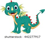 cute dragon cartoon | Shutterstock .eps vector #442277917