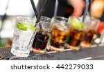 row of alcoholic drinks fading... | Shutterstock . vector #442279033