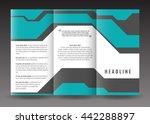 business trifold brochure... | Shutterstock .eps vector #442288897