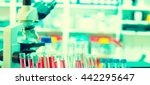 chemical laboratory bench with... | Shutterstock . vector #442295647