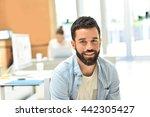 portrait of trendy businessman... | Shutterstock . vector #442305427