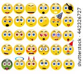funny yellow emoticons vector... | Shutterstock .eps vector #442326727