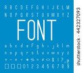 thin font family and alphabet