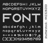 bold font design  alphabet and...   Shutterstock .eps vector #442328203