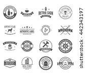 set of vector logotypes... | Shutterstock .eps vector #442343197