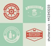 set of vector logotypes... | Shutterstock .eps vector #442343233