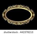 vector vintage border frame... | Shutterstock .eps vector #442378213