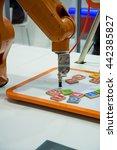 robot machine working for... | Shutterstock . vector #442385827