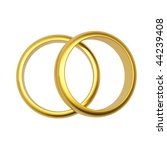 3d gold wedding ring isolated... | Shutterstock . vector #44239408