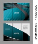 tri fold brochure design with... | Shutterstock .eps vector #442399027