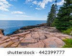 View Of The Rocky Cliff Shore...