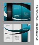 blue wave brochure template  | Shutterstock .eps vector #442400767