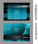 brochure design template vector ... | Shutterstock .eps vector #442400833
