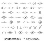 electronic and electric symbols ... | Shutterstock .eps vector #442406023