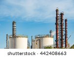 refineries at the blue sky... | Shutterstock . vector #442408663