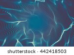 abstract polygonal space low... | Shutterstock . vector #442418503
