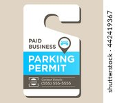 paid business parking permit | Shutterstock .eps vector #442419367