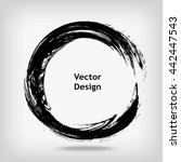 hand drawn circle shape. label  ... | Shutterstock .eps vector #442447543