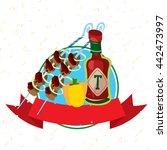 picnic logo. hiking  mountain... | Shutterstock .eps vector #442473997