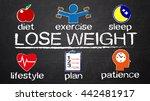lose weight concept diagram... | Shutterstock . vector #442481917