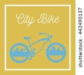 city bicycle. vintage bike