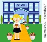 school building vector... | Shutterstock .eps vector #442508707