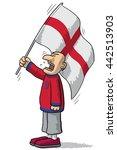 england soccer supporter | Shutterstock .eps vector #442513903