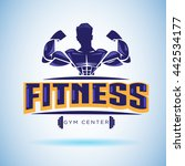 fitness logo. strong and weight ...   Shutterstock .eps vector #442534177