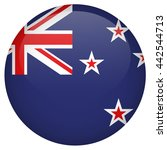 new zealand flag glossy button | Shutterstock .eps vector #442544713