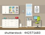 illustration of a doctor office | Shutterstock .eps vector #442571683