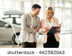 customer looking for a car at... | Shutterstock . vector #442582063