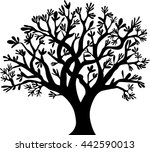 tree silhouette vector... | Shutterstock .eps vector #442590013