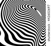 curvy irregular dynamic lines.... | Shutterstock .eps vector #442602697