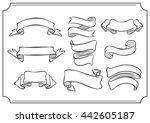 design element ribbon sketch... | Shutterstock .eps vector #442605187