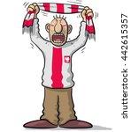 poland soccer supporter | Shutterstock .eps vector #442615357