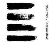 vector set of grunge brush... | Shutterstock .eps vector #442636933