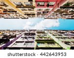residential buildings in hong...   Shutterstock . vector #442643953