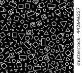 seamless geometric monochrome...   Shutterstock . vector #442646227