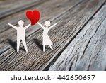 happy love couple dancing with... | Shutterstock . vector #442650697