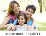 grandmother with daughter and... | Shutterstock . vector #44265766