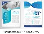 vector brochure flyer design... | Shutterstock .eps vector #442658797