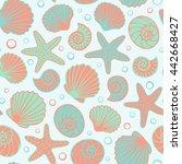 seashell seamless pattern....   Shutterstock .eps vector #442668427