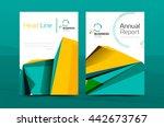 3d geometric shapes design a4... | Shutterstock .eps vector #442673767