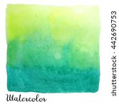big watercolor square isolated... | Shutterstock . vector #442690753