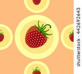 strawberry seamless. fruit... | Shutterstock .eps vector #442692643