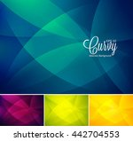curvy abstract background.... | Shutterstock .eps vector #442704553