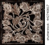 plaster painting  vase  floral... | Shutterstock . vector #442740817