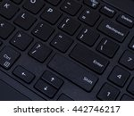 close up black laptop keyboard...