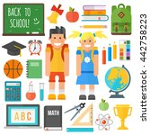 set of education school symbol... | Shutterstock .eps vector #442758223