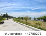 Paved Pedestrian Road Along...